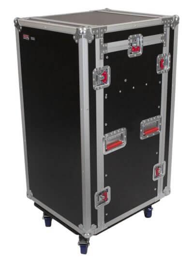 10u top 16u side road rack case g tour 10x16 pu gator cases for Consul use cases