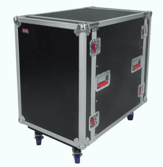 Portable Av Rack : U quot deep audio road rack case w casters g tour uca