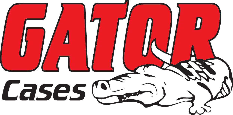 Gator White Gator Cases T-Shirt with Black Gator Cases Logo Large Size